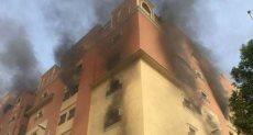 حريق مبني  - ارشيفية