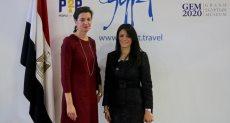 جانب من لقاءات وزيرة السياحة