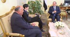 الرئيس السيسي يستقبل وزيرة خارجية النرويج