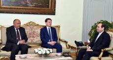 جانب من استقبال الرئيس السيسى لوزير خارجية سلوفينيا