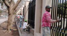 أعمال تطوير محيط استاد القاهرة