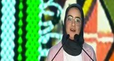 جيهان الخطيب إحدى المشاركات فى منتدى الشباب العربى والإفريقى من مملكة البحرين