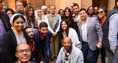 الرئيس السيسى مع شباب عربى وإفريقى