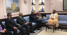 سامح شكرى يلتقى نائب رئيس وزراء سلطنة عمان