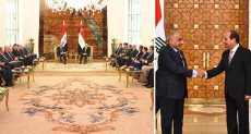 الرئيس عبد الفتاح السيسى مع رئيس وزراء العراق