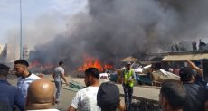 حريق سوق الخرده في العاصمة المغربية