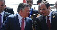 الرئيس عبدالفتاح السيسى أثناء استقبال العاهل الأردنى