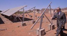 محافظ أسيوط يتفقد موقع محطة الطاقة الشمسية