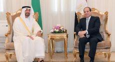 الرئيس السيسى يستقبل محمد بن زايد فى الإسكندرية