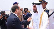 الرئيس السيسي يستقبل ولي عهد ابو ظبي
