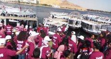 """مسيرة بالمراكب النيلية فى أسوان لـ""""طلائع الشباب والرياضة"""""""
