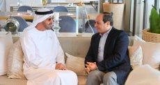 الرئيس السيسي وولي عهد ابو ظبي