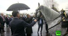 رئيس قرغيزستان يهدى بوتين حصان وكلب (فيديو)