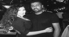 مي عمر مع المخرج محمد سامي
