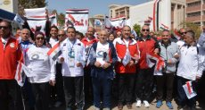 مسيرة طلاب جامعة أسيوط