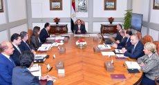 اجتماع الرئيس عبد الفتاح السيسي مع رئيس مجلس الوزراء وعدد من الوزراء