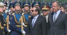 الرئيس السيسى ووزير الخارجية الروسى - أرشيفية
