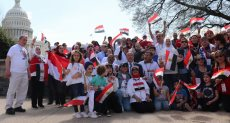 جانب من وقفة الجالية المصرية أمام الكونجرس