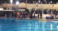 اشتباكات لاعبى الأهلي والجزيرة لكرة الماء