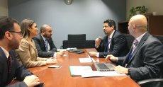سحر نصر في لقائها مع رئيس المؤسسة الإسلامية للتنمية