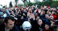 احتفالات فى شوارع اسطنبول