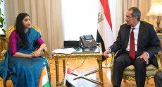 عمرو طلعت مع نائب وزير الاتصالات في الهند