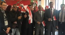 جانب من مشاركة الجالية المصرية فى استفتاء الدستور
