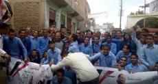 : مسيرة طلاب قرية أبو غالب