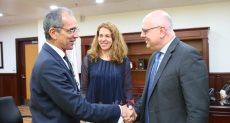 وزير الاتصالات يستقبل ممثل البنك الدولي