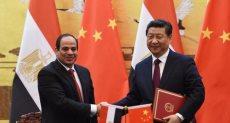الرئيس السيسي ونظيره الصيني تشي جين