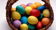 البيض الملون