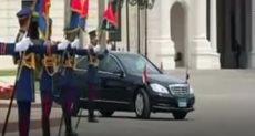 وصول الرئيس قصر رأس التين لحضور حفل عيد العمال