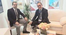 نائب وزير المالية وأحمد يعقوب محرر دوت مصر