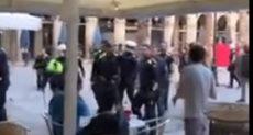 الشرطة الأسبانية تتدخل لفض الشغب