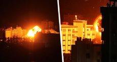 غزة تحت القصف ارشيفية