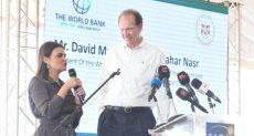 سحر نصر خلال اجتماعها مع رئيس البنك الدولي