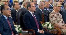 الرئيس عبدالفتاح السيسى خلال افتتاح محور روض الفرج