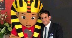 محمد فضل مع تميمية كأس الأمم الأفريقية