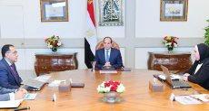 جانب من اجتماع الرئيس السيسى