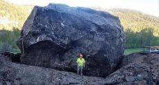 سقوط صخرة