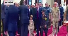 الرئيس السيسى يصل المسجد