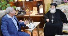 نيافة الأنبا هدرا أسقف أسوان واللواء أحمد إبراهيم محافظ أسوان