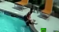 إنقاذ طفلة من الغرق