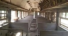عربات قطار ركاب ببنى سويف