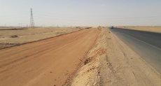 الطريق الصحراوى الغربى بأسوان