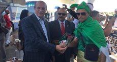 جانب من استقبال جمهور الجزائر