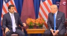الرئيس الأمريكى دونالد ترامب وتميم بن حمد أمير الإرهاب