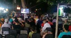 الجماهير تتابع مباراة مصر وأوغندا