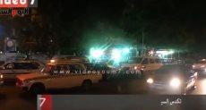 طوابير السيارات أمام البنزينة فى العيد