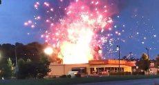 انفجار مستودع الألعاب النارية